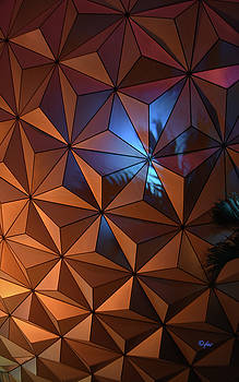 Epcot Geodesic Dome I V by Paulette B Wright