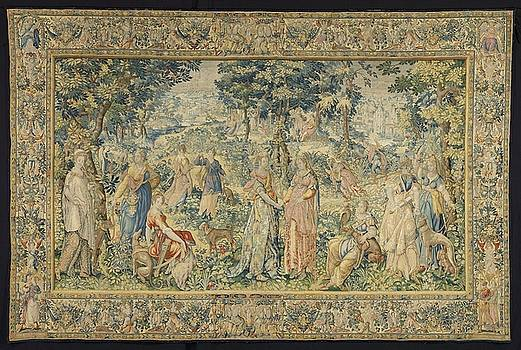 ephalus and Procris textile tapestry by R Muirhead Art