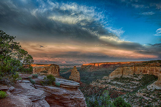 Epic Monument Sunset #4 by Dawn Morrow