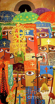 Epiphany in lalibela by Yoseph Abate
