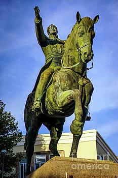 Equestrian monument of Simon Bolivar Cadiz Spain by Pablo Avanzini