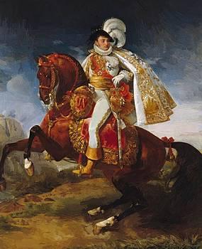 Equestrian Portrait Of J R Me Bonaparte 1808 by Gros AntoineJean