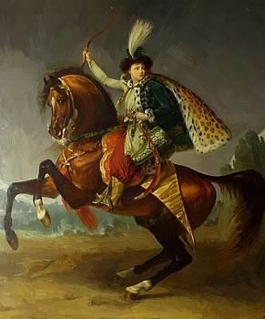 Equestrian Portrait Of Prince Boris Yusupov 1809 by Gros AntoineJean
