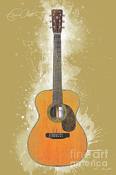 Eric Clapton Acoustic Guitar by Tim Wemple