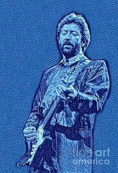 Eric Clapton Blue Pastel by Pd