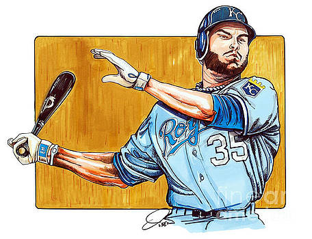 Eric Hosmer of the Kansas City Royals by Dave Olsen