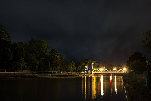 Chris Bordeleau - Erie Canal Lift bridge at Night