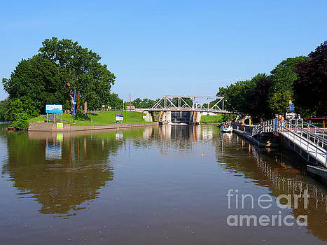 Erie Canal Lock E2 and town dock at Waterford New York by Louise Heusinkveld