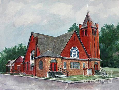 Erin Methodist Church 1899 by Janet Felts