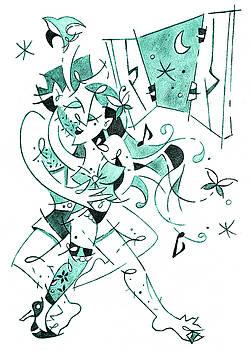 Arte Venezia - Erotic Tango - Couple Dancing Illustration