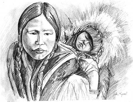 Eskimo Mother And Child by John Keaton