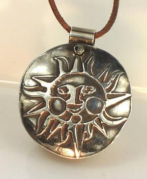 Esprit Del Sol Fine Silver Sun Pendant by Virginia Vivier