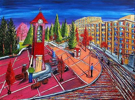 Esther Short Park At Dusk #1 by Portland Art Creations