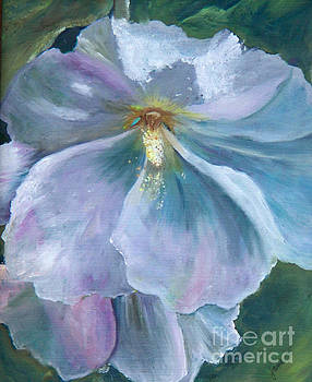 Ethereal White Hollyhock by Jane Autry