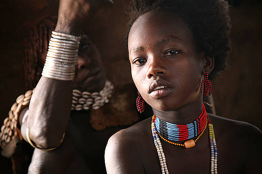 Ethiopian Hamer girl by Marcus Best