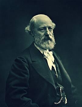 Eugene Emmanuel Viollet-le-Duc, photo portrait ca. 1872 - 1878 by Vintage Printery