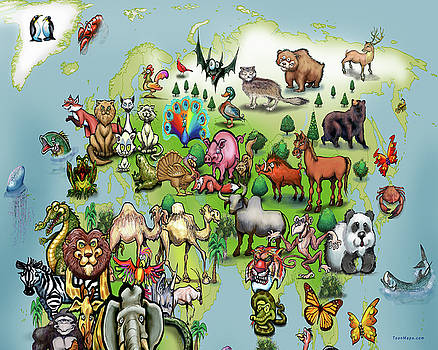 Europe Asia Animals  by Kevin Middleton