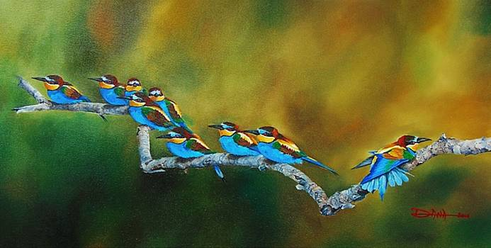 European Bee Eaters by Dana Newman