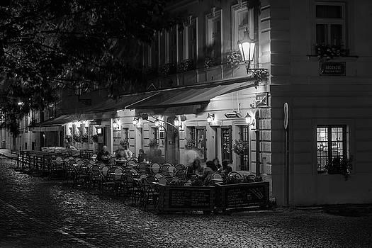 European Cafe At Night by Steve Gadomski