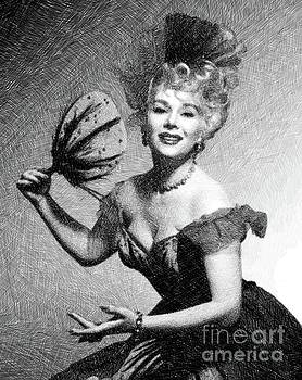 John Springfield - Eva Gabor, Vintage Actress by JS