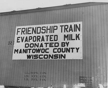 Chicago and North Western Historical Society - Evaporated Milk on Friendship Train - 1947
