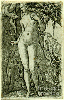 Eve with a Stag by Heinrich Alde Grave