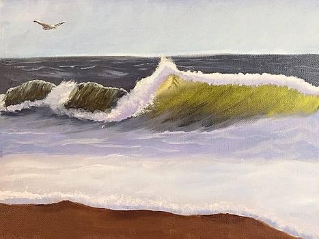 Even the mightiest waves crash by Ramya Sundararajan