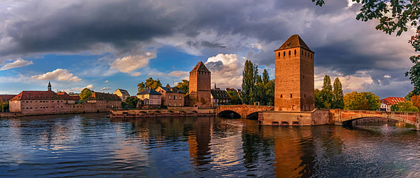 Evening after the rain on the Ponts Couverts by Dmytro Korol