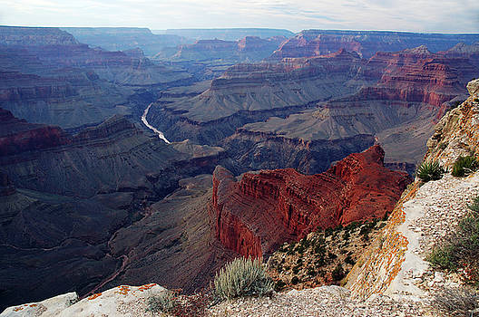 Reimar Gaertner - Evening at Pima Point Grand Canyon looking west