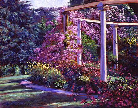 Evening At The Elegant Garden by David Lloyd Glover