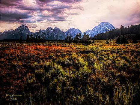 Evening At The Grand Tetons  ... by Chuck Caramella
