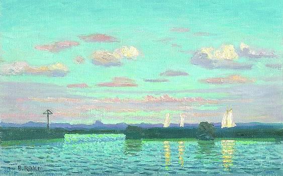 Evening at the waterside by Ben Rikken
