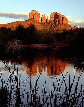 Evening atCathedral rock  by Larry Sobel