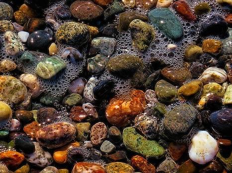Evening Beach Rocks by Rick Lawler