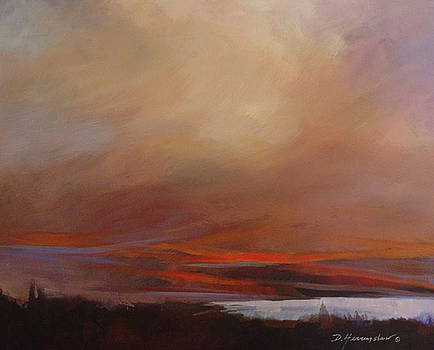 Evening blush by Delores Herringshaw