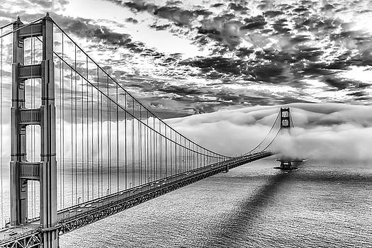Evening Commute Black and White by Dave Gordon