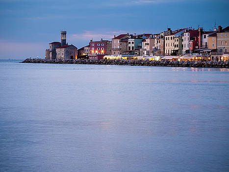 Evening Falls Over Piran by Rae Tucker