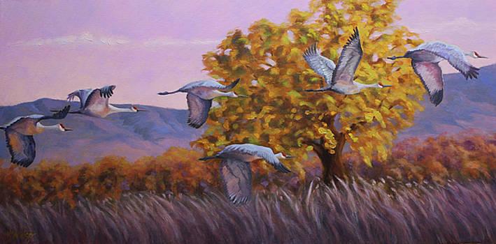 Evening Flight by Katy Widger