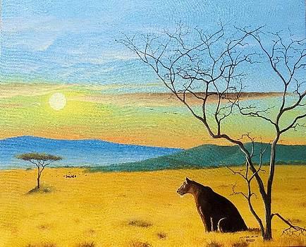 Evening Gaze by Hilton Mwakima