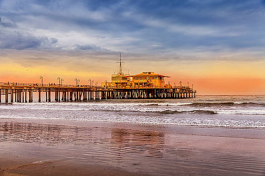 Evening Glow At The Pier by Gene Parks