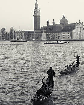 Richard Goodrich - Evening Gondoliers, Venice, Italy