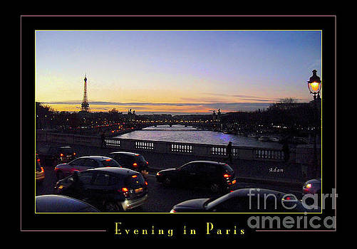 Felipe Adan Lerma - Evening in Paris Poster Greeting Card