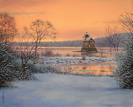 Evening Light At Kingston Point by Barry DeBaun