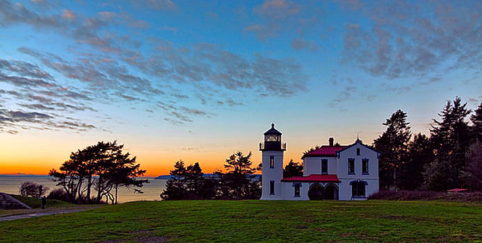 Evening Lighthouse by Rick Lawler