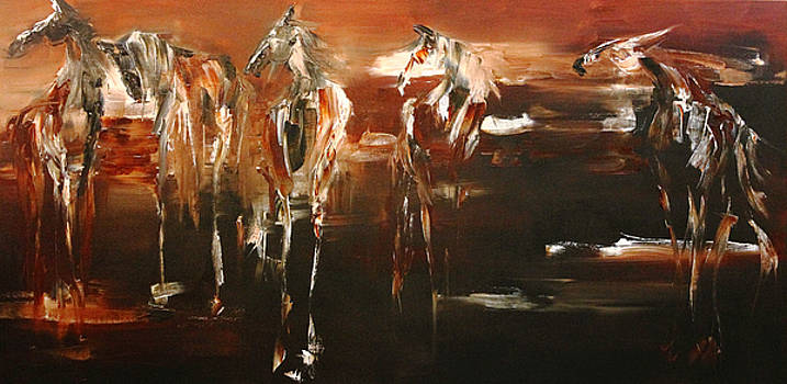 Evening Mares by Terry Meyer