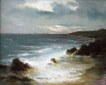 Evening Ocean by Michael Chesnakov