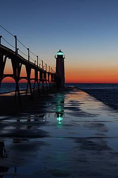 Evening on Lake Michigan by Fran Riley