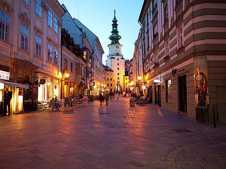 Evening on Michalska Street by Rae Tucker