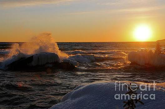 Evening on Superior by Sandra Updyke