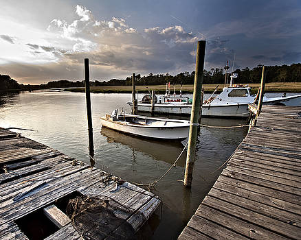 Evening on the dock by Karen Fowler
